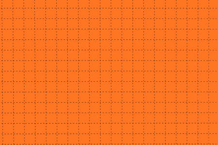 millimeter: Orange Magnetic Plastic Board With Dotted Black Checkered Lines Like As Graph Or Millimeter Paper, Horizontal Background With Space, Close Up, Concept For Creativity Education Or Crossword