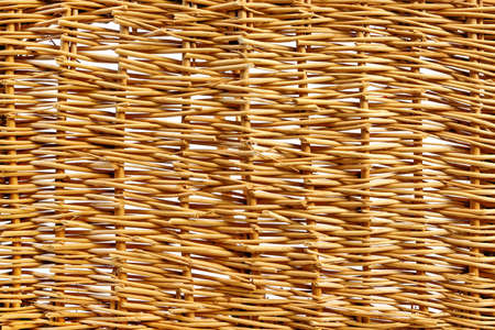 rattan mat: Abstrac Natural Wicker Horizontal Background Or Texture, Close Up, Copy Space Stock Photo