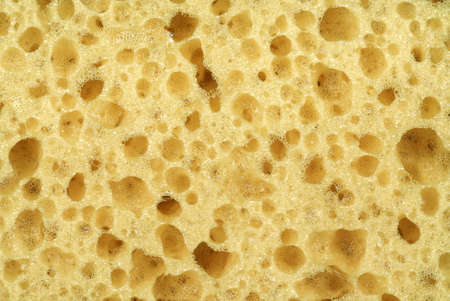 porosity: Close-up Of New And Clean Yellow Sponge Textured Background With Copy Space