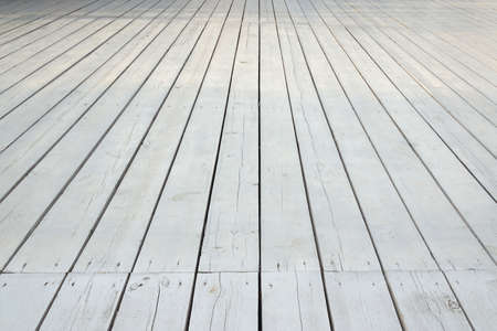 Outdoor Patio Or Veranda White Wooden Floor In Modern Vintage.. Stock  Photo, Picture And Royalty Free Image. Image 60412982.