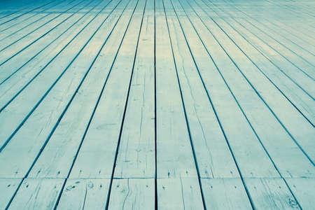 Outdoor Patio Or Veranda White Wooden Floor In Modern Vintage