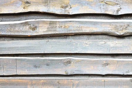 overlapped: Natural Rough  Wooden Wall Or Fence Planks,  Wood Closeboard Texture, Overlapped Timber Boards Weathered Panel, Background Or Texture With Space For Text Or Image