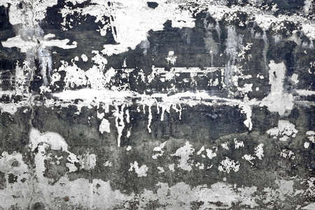 plasterwork: Black And White Concrete Old Wall With Damaged Plaster Layer Absract Texture Or Background With Copy Space, Close Up, Grunge Surface, Rough Structure