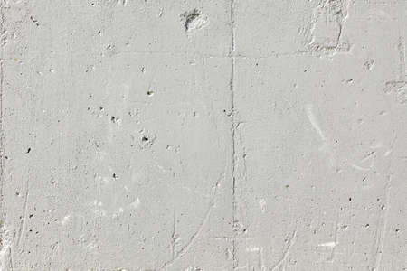 backdrop grungy: Grey Concrete Wall Background, Old Grungy Textured Backdrop,  White Scratched Rough Concrete Surface With Hole. Stock Photo