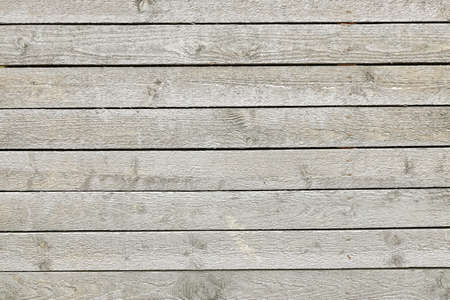 Close Up Of Unpainted Natural Weathered Textured Rustic Wood Panel.  Pine Wood  Rough Plank Wall Or Fence. Woodgrain Texture or  Background With Copy Space. Stock Photo