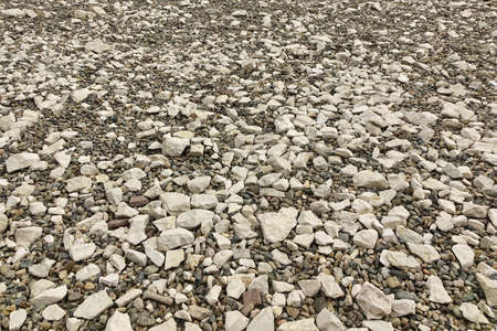 shingle beach: Perspective View On The Rocky Pebble Surface, Stone Background Or Texture, Shingle Beach, Mountain Off Road Backdrop