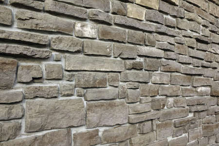 stepped: Modern Vintage Stone Wall From Stepped Granite Blocks With Tiled Pattern Background Texture, Close Up, Copy Space, Home Exterior Or Interior Design