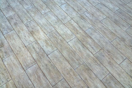 diagonal lines: Ceramic Parquet Floor Tiles With Natural Ash Wood Textured Pattern, Background Or Texture With Space, Top View, Close Up, Diagonal Lines Stock Photo