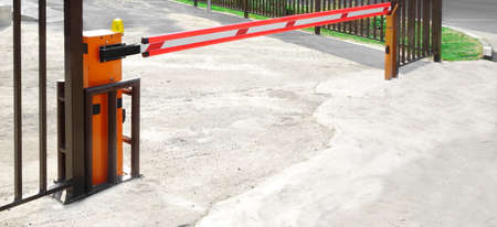 Automatic Rising Arm Or Drop Barrier. Boom Barrier. Intelligent Straight Pole Barrier. Car Parking System.
