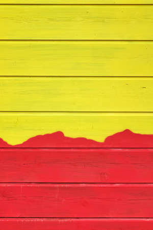 wood paneling: Bicolor Yellow Red Wood Paneling Texture Or Isolated Background  With Abstract Pattern, Vertical  Image