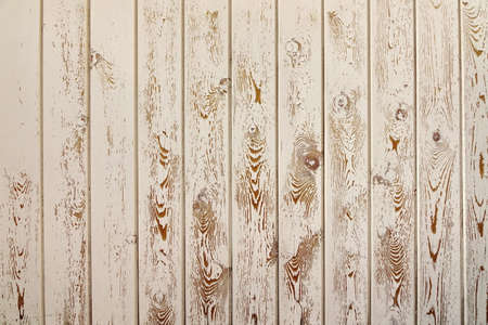 flaky: Obsolete Rough Wood Peneling From Weathered White Clapboards Background Texture. Wooden Planking With Flaky Paint Covering. Close Up, Vertical Plating Direction