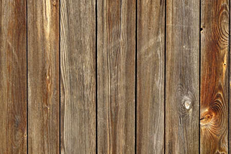 Vertical Barn Wooden Wall Planking Texture. Reclaimed Old Wood Slats Rustic Horizontal Background. Home Interior Design Element In Modern Vintage Style. Hardwood Dark Brown Timber Solid Structure Stock Photo
