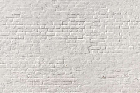 White Brick Wall Background. Whitewash Brick Wall Seamless Texture. Abstract White Backdrop. White Brickwork Art Wallpaper. Old Lime Washed Wall Structure. White Painted Retro Wall Surface.
