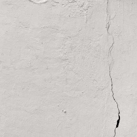 Aged White Peeled Plaster Wall With Cracked Structure Frame