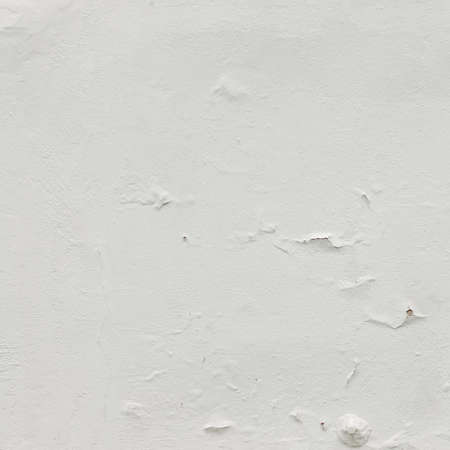 whitewash: Old White Peeled Plaster Wall With Shabby Structure Frame Empty Grunge Background. Whitewash Brick Exterior Mortar Wall With  Stucco Layer Isolated Square Texture.  Blank Rustic Fence Surface
