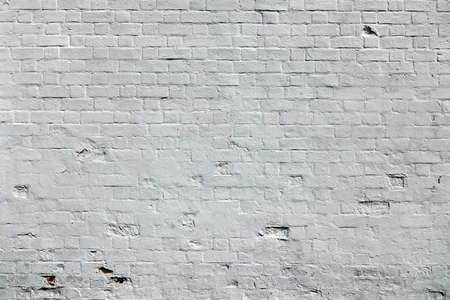 White Brick Wall Background. Whitewash Brick Wall Texture. Abstract White Backdrop. Surface For Modern Street  Graffiti Art Reklamní fotografie