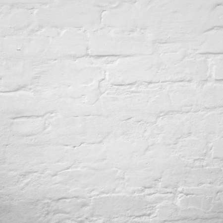 Abstract Rectangular White Texture. White Washed Old Brick Wall With Stained And Shabby Uneven Plaster. Painted White Grey Brickwall Background. Home House Room Interior Design. Square Wallpaper Reklamní fotografie