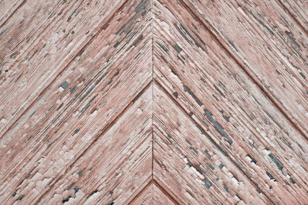 Tiled Wooden Wall Planking Horizontal Texture. Old Rustic Wood Slats Shabby Background With Herringbone Pattern. Peeled Weathered Isolated Parquet Ornament. Natural Wood Board Panel Abstract Wallpaper Reklamní fotografie