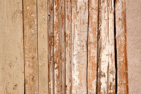 Red Barn Wooden Wall Planking Horizontal Texture. Old Retro Wood Slats Rustic Shabby Empty Background. Paint Peeled Brown Weathered Isolated Surface. Natural Wood Board Panel Grungy Facade Wallpaper Reklamní fotografie