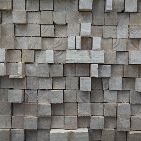 Rustic Wooden Wall From Wood Blocks Frame Background Texture. Pine Wood Panel for Design. Seamless Texture of Wooden Blocks in Collage Background. Wooden Blocks Wall. Mosaic Wooden Tile Wall Wallpaper
