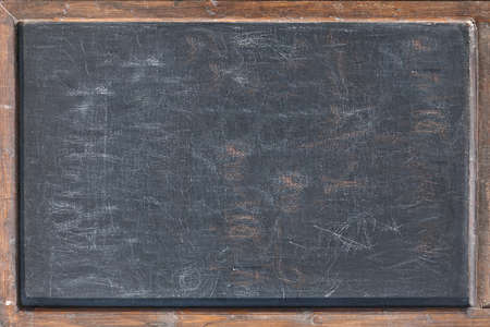 Empty Old Shabby Chalkboard or Blackboard Isolated Background Texture. Blank Chalkboard Menu Sign Mockup Isolated Background, Closeup. Restaurant Sidewalk Chalkboard Sign Board With Copy Space.