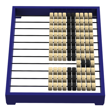 russian culture: Chinese abacus, isolated on white background. 3D render.
