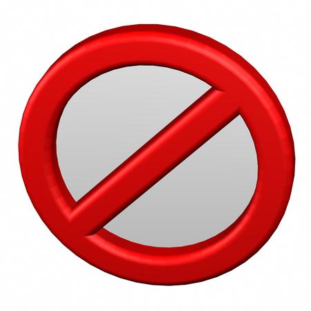 prohibition: panneau d'interdiction Banque d'images