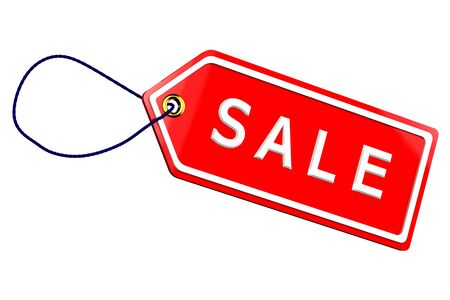proposition: Sale tag, isolated on white background. 3D render.