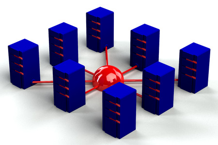 commercial activity: Concept - Internet. 3D render. Stock Photo