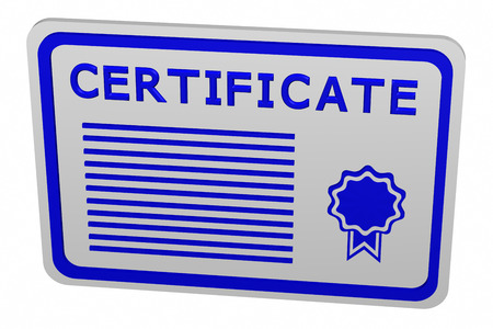 licensing: Concept: certificate