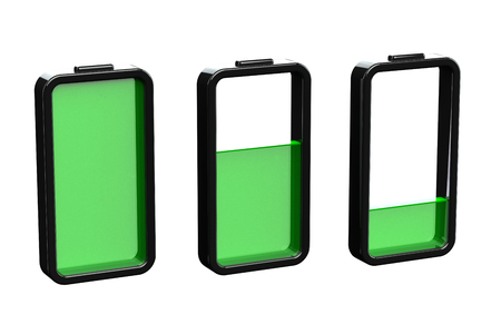 Concept - battery charge. 3D render.