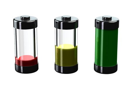 amperage: Concept - battery charge. 3D render.