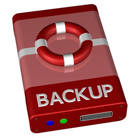 data recovery: Concept - Backup, isolated on white background.