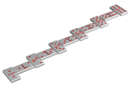 career ladder: Concept : Career ladder, isolated on white background. 3D render.