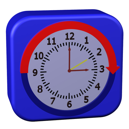 Concept - Daylight Saving Time Started, isolated on white background.