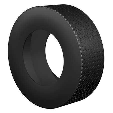 tire cover: Tire, isolated on white background. 3D render. Stock Photo
