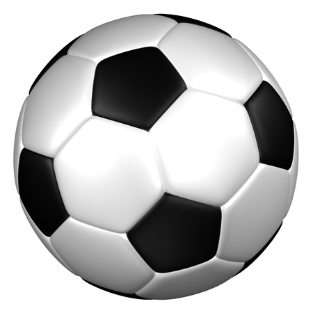 european culture: Soccer ball, isolated on white background. 3D render. Stock Photo