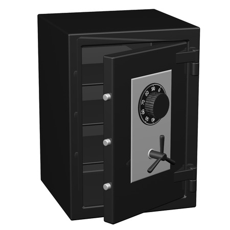 Safe box, isolated on white background.  3D render.