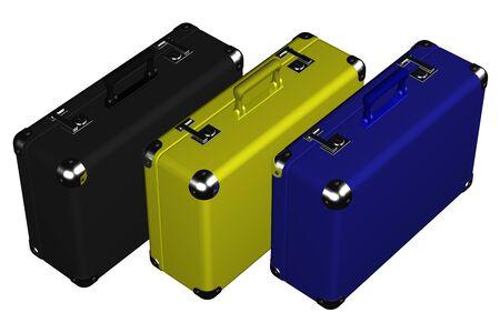 スーツケースは、白い背景で隔離。 3 D のレンダリング。 写真素材 - 51807128