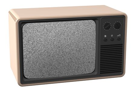 Old tv, isolated on white background. 3D render. Stock Photo