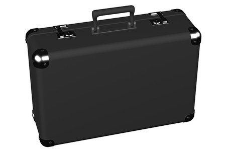 encasement: Suitcase, isolated on white background. 3D render.