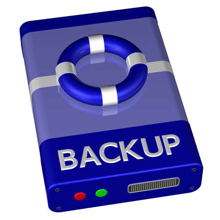 depository: Concept - Backup, isolated on white background. 3D render.