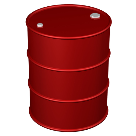 brent crude: Barrel, isolated on white background.  3D render.