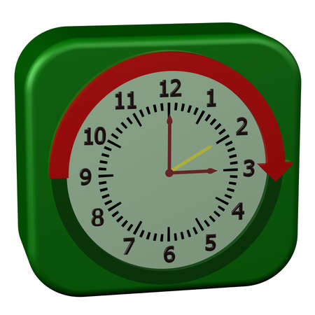 Concept - Daylight Saving Time Started, isolated on white background. 3D render.