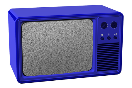 televisor: Old tv, isolated on white background. 3D render. Stock Photo