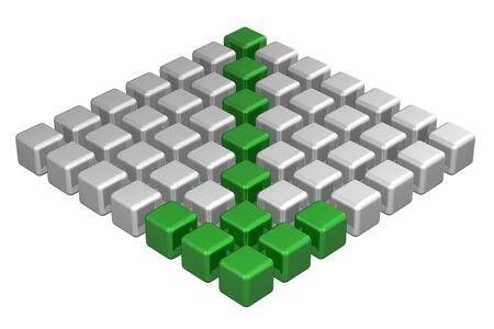 flechas direccion: Dirección de la flecha, aislado en fondo blanco. render 3D. Foto de archivo