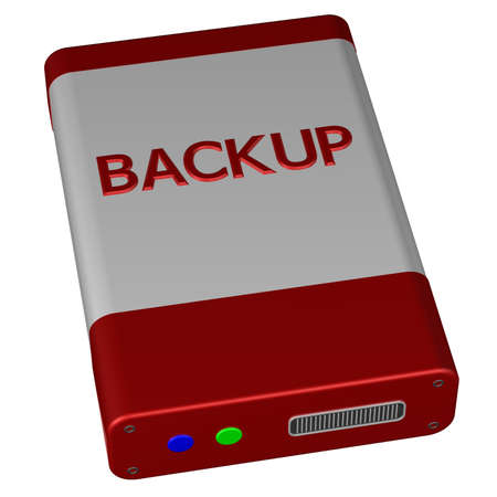 replication: Concept - Backup, isolated on white background. 3D render.