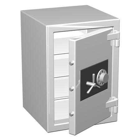 safe box: Safe box, isolated on white background.  3D render.