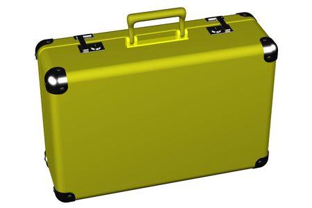 スーツケースは、白い背景で隔離。 3 D のレンダリング。 写真素材 - 53577967