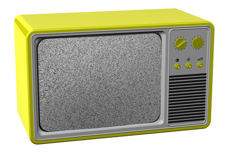 old tv: Old tv, isolated on white background. 3D render. Stock Photo